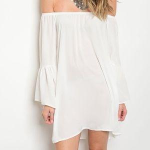 Dresses & Skirts - White Sheer Beach Cover Up